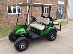 Green Electric Golf Car-Harris Golf Cars-Iowa, Illinois, Wisconsin, Nebraska