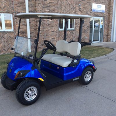 Aqua Blue Golf Car-Harris Golf Cars-Iowa, Illinois, Wisconsin, Nebraska