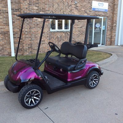Custom Golf Car - Harris - Iowa, Wisconsin, Illinois on black trailer, black tv, black toy hauler, black bus,