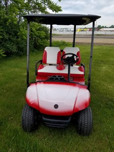 2008 Yamaha Red White=Harris Golf Cars-Iowa, Illinois, Wisconsin, Nebraska