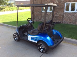 Custom Blue and White-Harris Golf Cars-Iowa, Illinois, Wisconsin, Nebraska