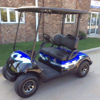 Blue and Black Tribal-Harris Golf Cars-Iowa, Illinois, Wisconsin, Nebraska