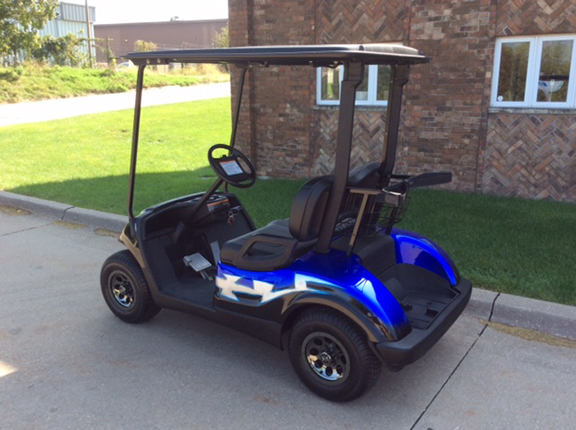 Blue and Black Tribal-Harris Golf Cars-Iowa, Illinois, Wisconsin, Nebraska