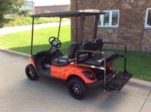 Custom Red Flame-Harris Golf Cars-Iowa, Illinois, Wisconsin, Nebraska