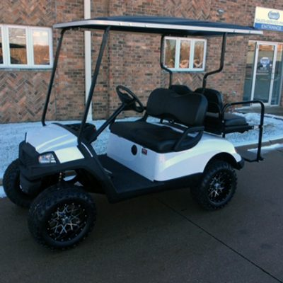 White Hvoac Electric Golf Car-Harris Golf Cars-Iowa, Illinois, Wisconsin, Nebraska