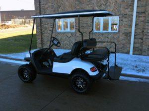 White Hvoac Electric Golf Car-Harris Golf Cars-Iowa, Illinois, Wisconsin, Nebraska