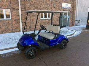 Cobalt Blue Golf Car-Harris Golf Cars-Iowa, Illinois, Wisconsin, Nebraska