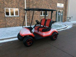 Custom White and Red Golf Car-Harris Golf Cars-Iowa, Illinois, Wisconsin Nebraska