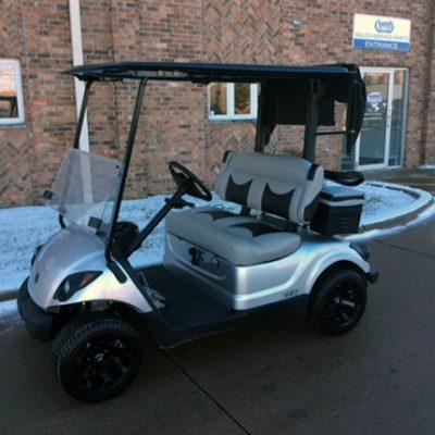 Moonstone Silver Metallic Golf Car-Harris Golf Cars-Iowa, Illinois, Wisconsin, Nebraska