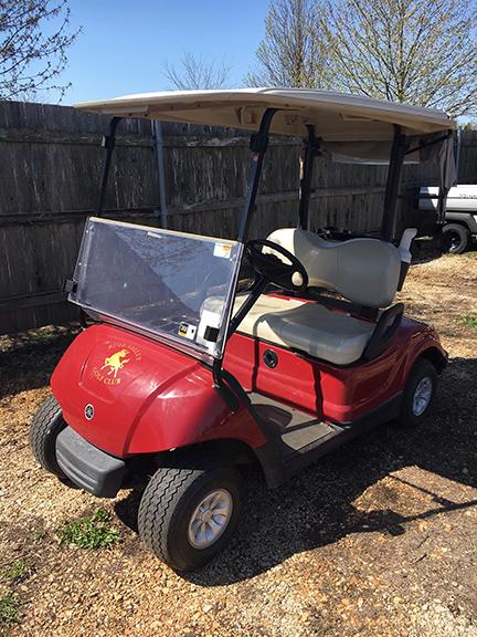 Red Electric Golf Car-Harris Golf Cars-Iowa, Illinois, Wisconsin, Nebraska