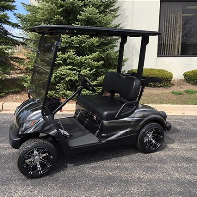 Custom Black and Silver Golf Car-Harris Golf Cars-Iowa, Illinois, Wisconsin, Nebraska