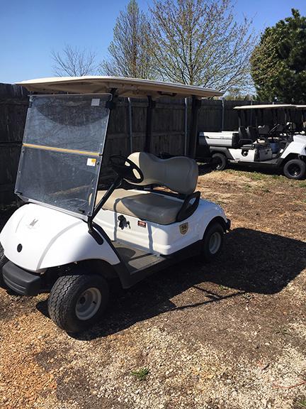 White Yamaha Golf Car-Harris Golf Cars-Iowa, Illinois, Wisconsin, Nebraska