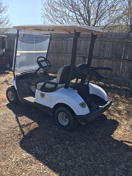 White Yamaha Golf Car-Harris Golf Cars-Iowa, Illinois, Wisconsin, Nebraska