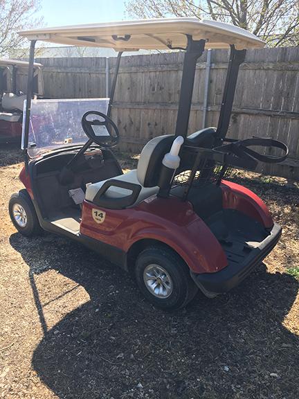 Garnet Red Gas Golf Car-Harris Golf Cars-Iowa, Illinois, Wisconsin, Nebraska