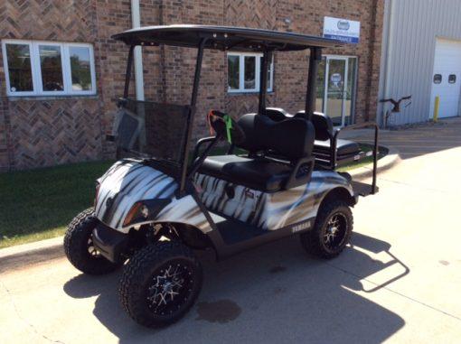 2018 Custom Black and White-Harris Golf Cars-Iowa, Illinois, Wisconsin, Nebraska
