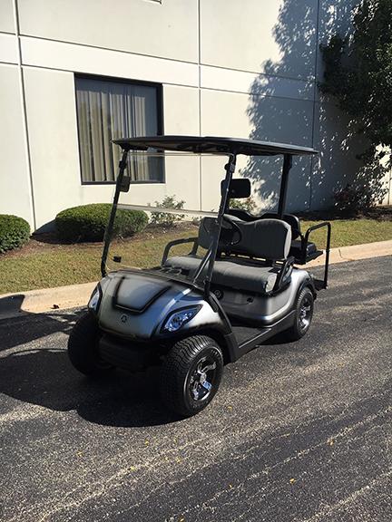 2010 Custom Silver and Black 4-Passenger Golf Car