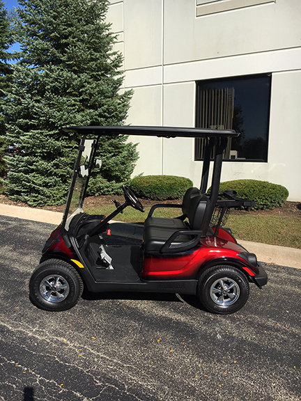 2011 Custom Red Electric Golf Car