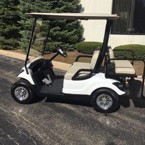 2011 Yamaha YDRA White 4-Passenger Golf Car