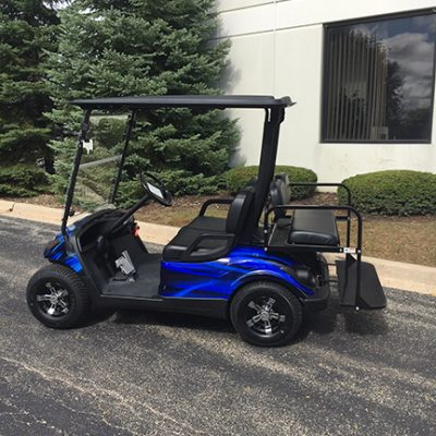 2013 Blue and Black Swirl 4-Passenger Golf Car