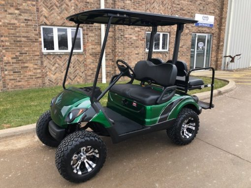 2012 Custom Black and Green Golf Car