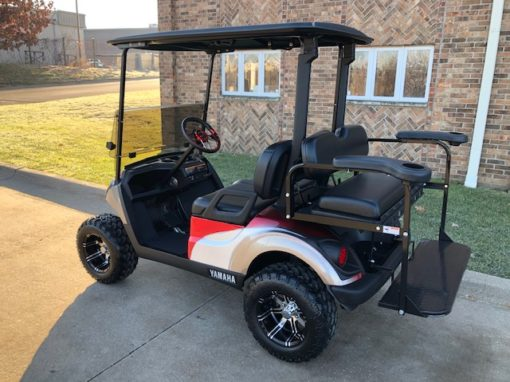 2019 Custom Red and Gray Golf Car