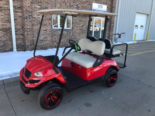 2008 Red Hvoac Golf Car