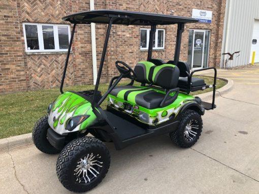2011 Custom Green Tribal Golf Car