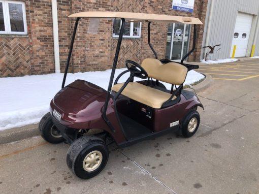 2016 E-Z-Go Burgundy Golf Car