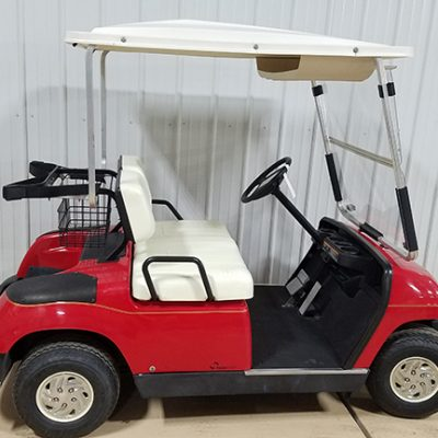 2001 Red Electric Golf Car