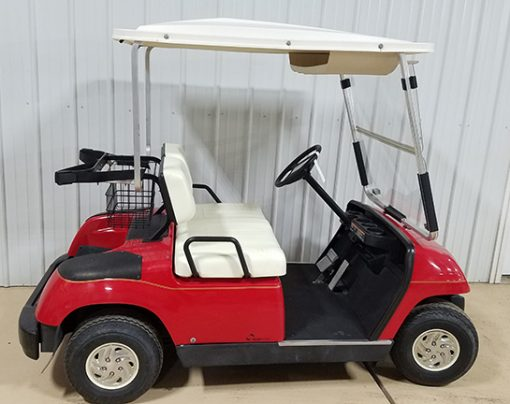 2001 Red Electric Golf Car