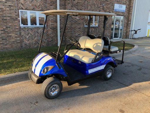 2007 Blue and White Golf Car