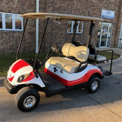2007 Custom White and Red Golf Car