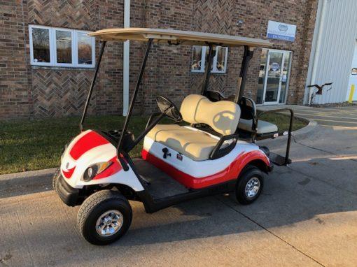 2007 Custom White and Red Golf Car