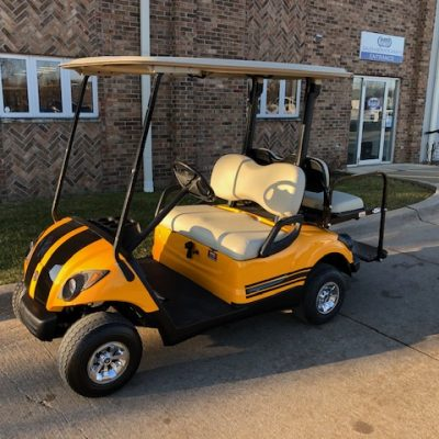 2007 Yellow and Black Golf Car