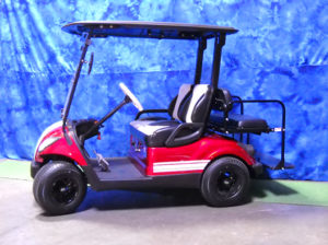 Custom Red and White Golf Car