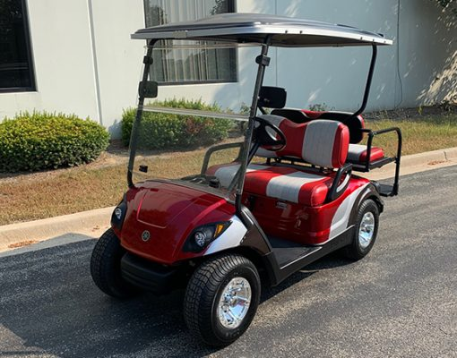 2016 Red and Gray Golf Car