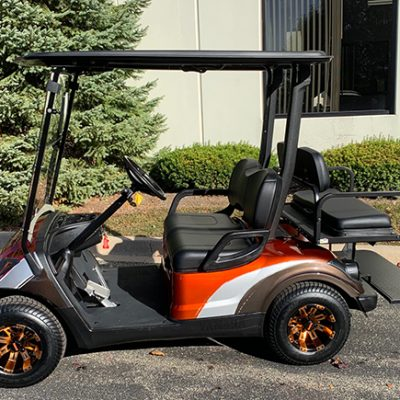 2015 Custom Orange and Silver Golf Car