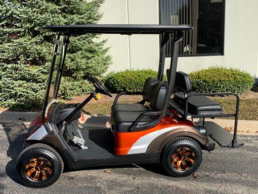 2015 Custom Orange and Silver Golf Car