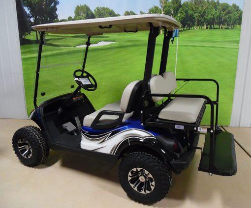 2010 Blue and White Golf Car