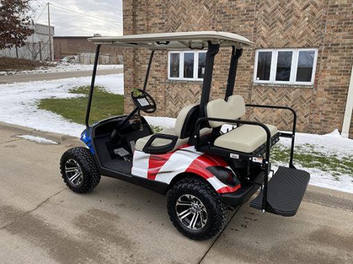 2013 Custom American Flag Golf Car