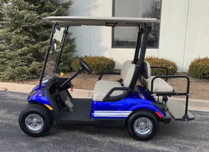 2013 Blue and White Golf Car