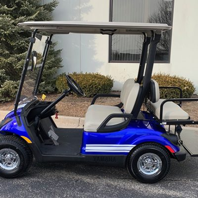 2013 Blue and White Golf Car