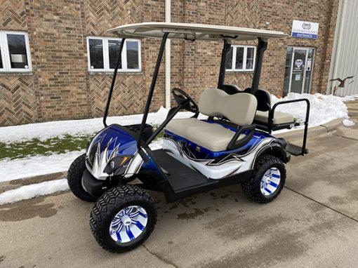 2013 Blue, White and Black Custom Golf Car