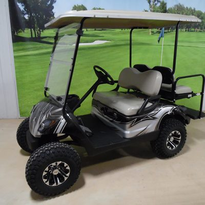 2014 Custom Black and Silver Golf Car