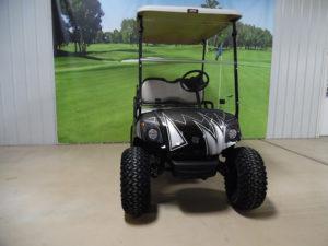 2014 Custom Black and Silver Golf Car