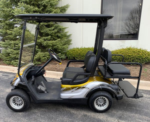 2010 Custom Silver and Yellow Golf Car