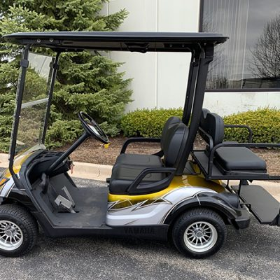 2010 Custom Silver and Yellow Golf Car
