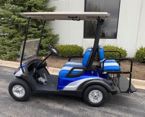 2014 Custom Sliver and Blue Golf Car