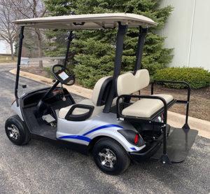 2014 Moonstone with Blue Trim Golf Car