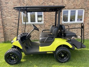 2019 Lime Yellow and Black Golf Car